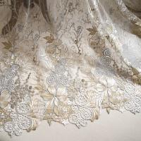 201808251945597232018 新款欧美时尚刺绣蕾丝面料婚纱礼服布料时装裙子衣料性感潮流