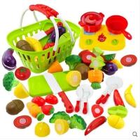儿童水果蔬菜切切乐仿真切水果玩具 切切看过家家厨房玩具套装