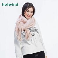 Hotwind2018年冬季新款女士金丝围巾P065W8401