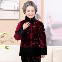 咔金琳中老年女装妈妈装冬装加厚棉衣奶奶棉服女棉袄冬装加厚老年丝绒棉衣