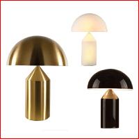 现代创意设计师蘑菇头台灯客厅卧室床头灯书房灯北欧个性装饰灯具 按钮开关