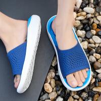 夏季男士凉鞋子韩版时尚学生塑胶塑料透气男拖鞋式凉拖两用沙滩青少年