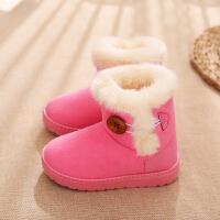 冬季新款儿童雪地靴女童短靴男童靴子宝宝加棉毛毛加绒鞋子