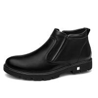 宜驰 EGCHI 皮鞋正装商务休闲高帮保暖加绒棉鞋子男 86071