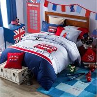 君�e男孩�和�床上用品男童四件套卡通床�伪惶状搀�1.5米 汽�