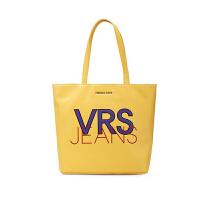 VERSACE JEANS 范思哲 新款 女士黄色聚酯纤维单肩购物包E1VTBBS8 70888 600