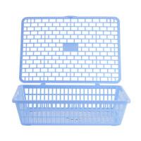 晨光 文件筐 A4砖型带盖公文篮 收纳筐 凭证筐 塑料框 文件框 文件盘