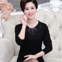 中年女装秋冬季宽松打底衫羊毛衫上衣中年妈妈装套头针织衫毛衣