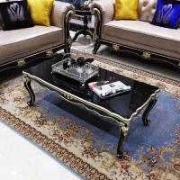 欧式茶几简约电视柜小户型客厅茶桌子家具新古典1.2米黑色小 组装