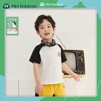 Mini Balabala儿童短袖T恤2021夏装新款凉爽透气快干可爱短袖t