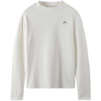 早秋新款韩版修身显瘦chic慵懒风小字母半高领长袖T恤女士打底衫