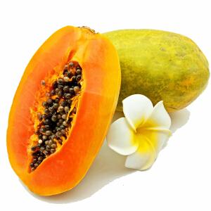 【海南特产】乐食汇 海南青皮木瓜2.5kg 3-4个