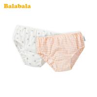 巴拉巴拉女童内裤棉三角女孩短裤儿童小童宝宝底裤裤衩印花两条装夏