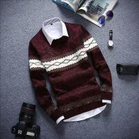 冬季加厚男士秋季青少年长袖T恤圆领上衣服打底衫秋衣针织衫毛衣
