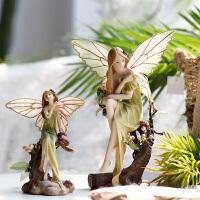欧式田园创意家居装饰品摆件婚庆工艺品礼物花仙子森林天使