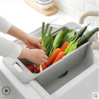 厨房置物架碗架收纳水槽沥水架碗碟篮可伸缩洗碗池