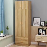 衣柜简易北欧组装衣柜简约现代经济型两门小衣柜橱柜抽屉柜 2门组装