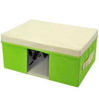 毛衣收纳箱/带盖可视衣物整理箱衣物收纳箱 折叠百纳箱 床品套件收纳盒有盖 -小号颜色随机