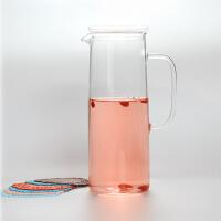 20191212143033120普润 耐热玻璃凉水壶玻璃水壶1.5升带盖子耐热高温晾凉白开水杯扎壶大容量透明水瓶 一