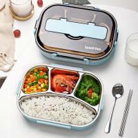 光一上班族饭盒分格便携1人304不锈钢保温便当餐盒套装学生分隔型带盖