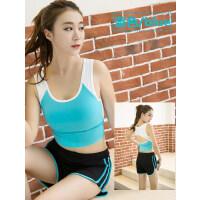 女厦 瑜伽服套装 运动文胸 背心 +短裤 跑步服 健身服