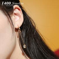 T400耳环韩国气质防过敏耳钉女个性简约 2663