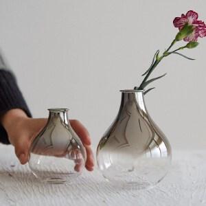 【每满100减50】幸阁 插花北欧渐变色锥形玻璃小花瓶 干花花瓶ins家居装饰插花摆件