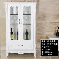 欧式酒柜现代简约整装客厅靠墙餐厅家用红酒柜子装饰柜简约高边柜 单门