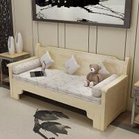 实木沙发床 双人推拉1.2米1.5米抽拉床坐卧两用伸缩床折叠多功能 1.8米-2米