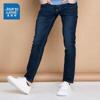 [超级大牌日每满299-150]真维斯男装 冬装 特深蓝弹力牛仔裤