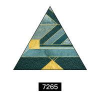 玄关装饰画抽象现代简约过道走廊挂画北欧客厅三角形创意轻奢壁画 单边70cm 黑色画框 单幅油画布】