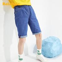 巴拉巴拉童装男大童儿童短裤牛仔中裤2020新款夏装男童中大童裤子