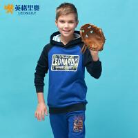 英格里奥男童童装春季新款卫衣运动套装长袖休闲卫衣裤套装894S