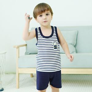 歌歌宝贝男童短袖套装夏纯棉两件套2018新款宝宝夏装1-3岁衣服