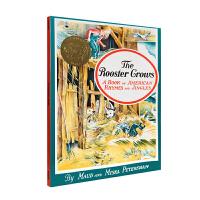 凯迪克金奖绘本 公鸡 The Rooster Crows美国韵文童谣 英文绘本图画书 平装