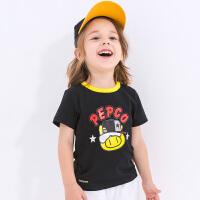 小猪班纳童装男宝宝t恤2019夏装新款男小童休闲上衣