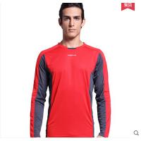 速干田径健身训练衣 运动t恤 男长袖跑步服上衣