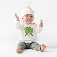 小绿蛙。有机棉。T-Shirt。英国皇室选用(6-12��月 / 18-24��月)