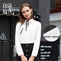 OSA欧莎冬装新款加绒衬衫女D12103