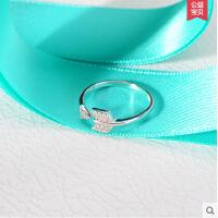 复古简约装饰指环可调节戒指 韩版丘比特之箭戒指女925银开口戒