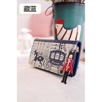 新款大钱包女长款 拉链日韩版卡通可爱多功能大容量手拿皮夹