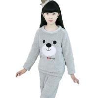 儿童睡衣套装女童长袖睡觉加厚保暖衣套装女孩家居服