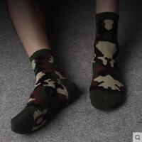 户外休闲袜子男加厚运动袜子男士棉袜子运动迷彩袜保暖中筒运动潮