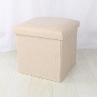 布艺收纳凳子储物凳可坐可折叠家用沙发换鞋凳子翻盖收纳箱