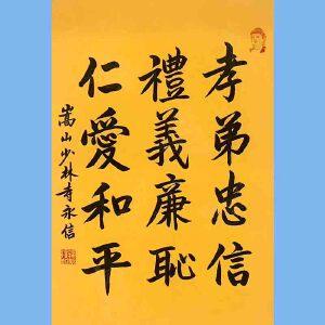 第九十十一十二届全国人大代表,少林寺方丈释永信(孝悌忠信)