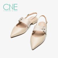 CNE2019夏季新款凉鞋女仙女风晚晚鞋搭扣玛丽珍鞋女凉鞋AM12710