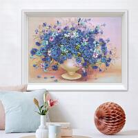 蒙娜丽莎欧美十字绣线绣新款花卉花瓶新款小幅客厅卧室简单绣