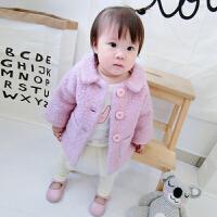 女童宝宝呢子大衣秋装外套0婴儿2衣服1岁半3季6-12月岁呢大衣