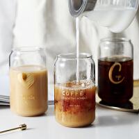 光一创意玻璃水杯家用少女可爱网红大容量ins风简约牛奶柠檬可乐杯子