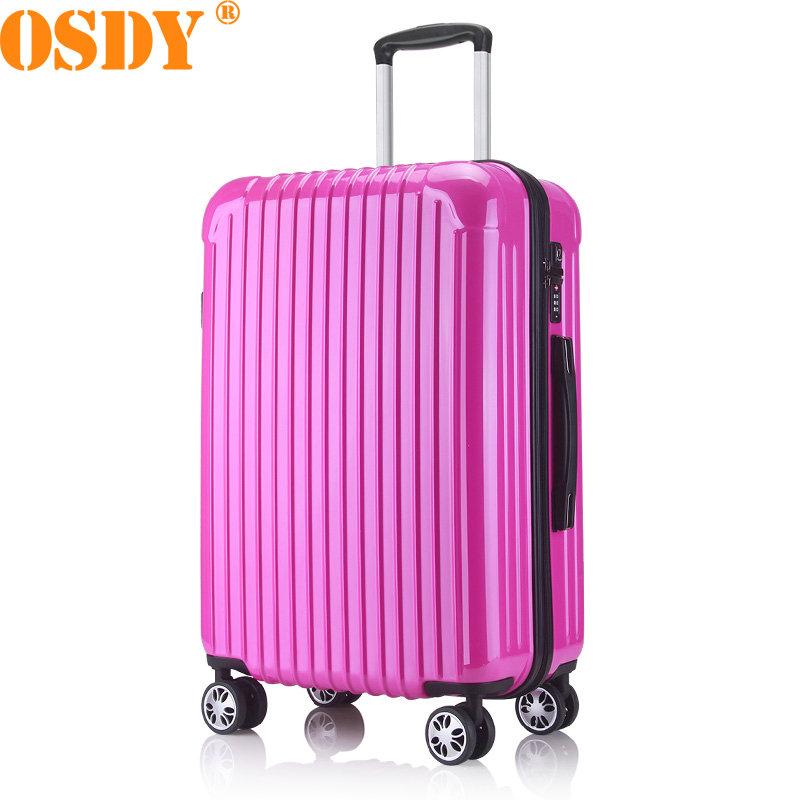 【可礼品卡支付】20寸 OSDY品牌 登机箱 旅行箱 行李箱 拉杆箱 A855-耐压抗摔ABS+PC材质 静音万向轮升级爆款,浓妆淡抹总相宜